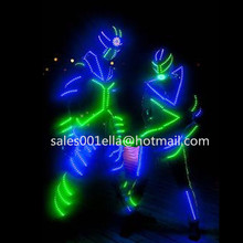 New Design Led Growing Luminous Light Up Robot Suit Costume With LED Helmet For Men Dance Performance Stage Clothes
