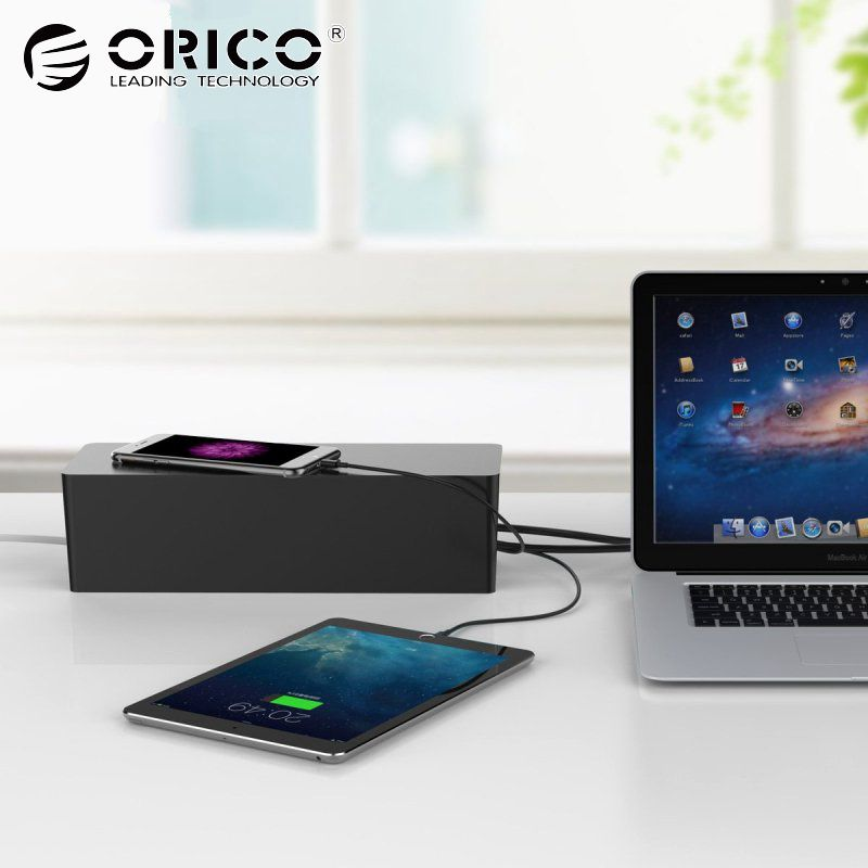 ORICO PB3218 fireproof Socket Storage Boxes storage box desk Dustproof Protection holder Safety Socket