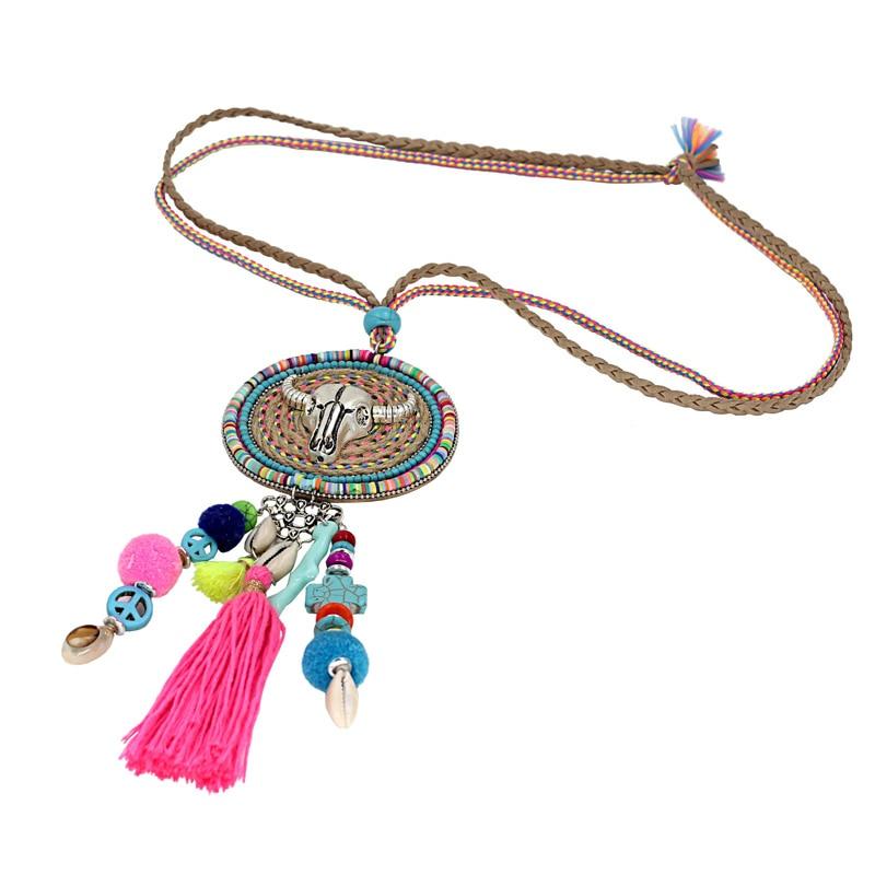 VONNOR Jewelry Handmade Halskette Damen Böhmen Accessoires Quaste - Modeschmuck - Foto 2