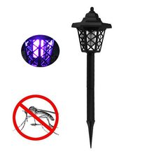 2019 Mosquito-killer-lamp Solar Powered LED Socket Electric Mosquito Fly Bug Insect Trap Killer Night Lamp Light Garden Mosquito(China)