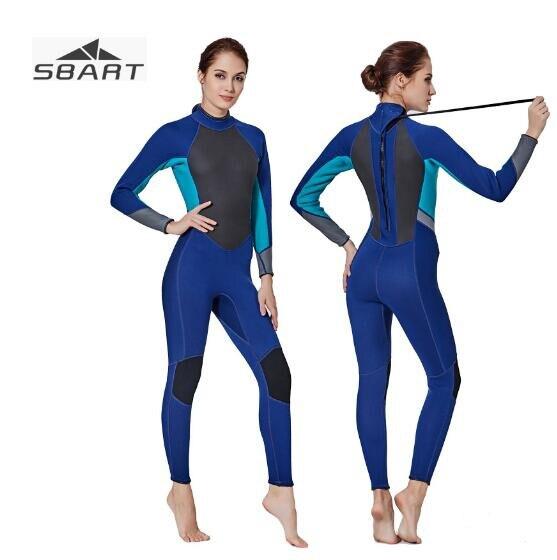 SBART 3MM Neoprene Wetsuits Women Scuba Diving Spearfishing Wet Suits One-Piece Keep Warm Scuba Snorkeling Diving Wetsuits цена