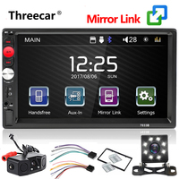 Autoradio 7 Touch Mirror Link Screen 2Din Car Radio Bluetooth Hands Free FM/TF/USB Rear View Camera Mirror For Android Phone