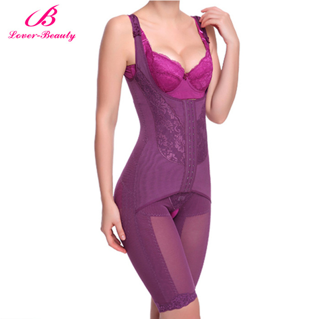 a8ab6835f7 Lover Beauty Plus Size Women Slimming Body Shaper Lace Hot Shapers With 4  Magnet Sexy Bodysuit Women Waist cincher Corset