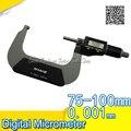 SHAHE цифровой микрометр 0 001 мм электронный цифровой микрометр цифровой микрон микрометр 75-100