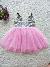 Christmas Kids Girls Tulle Lace Sequins Party Dresses Baby Girl Mickey TuTu Princess Dress 2016 Babies Summer style clothes