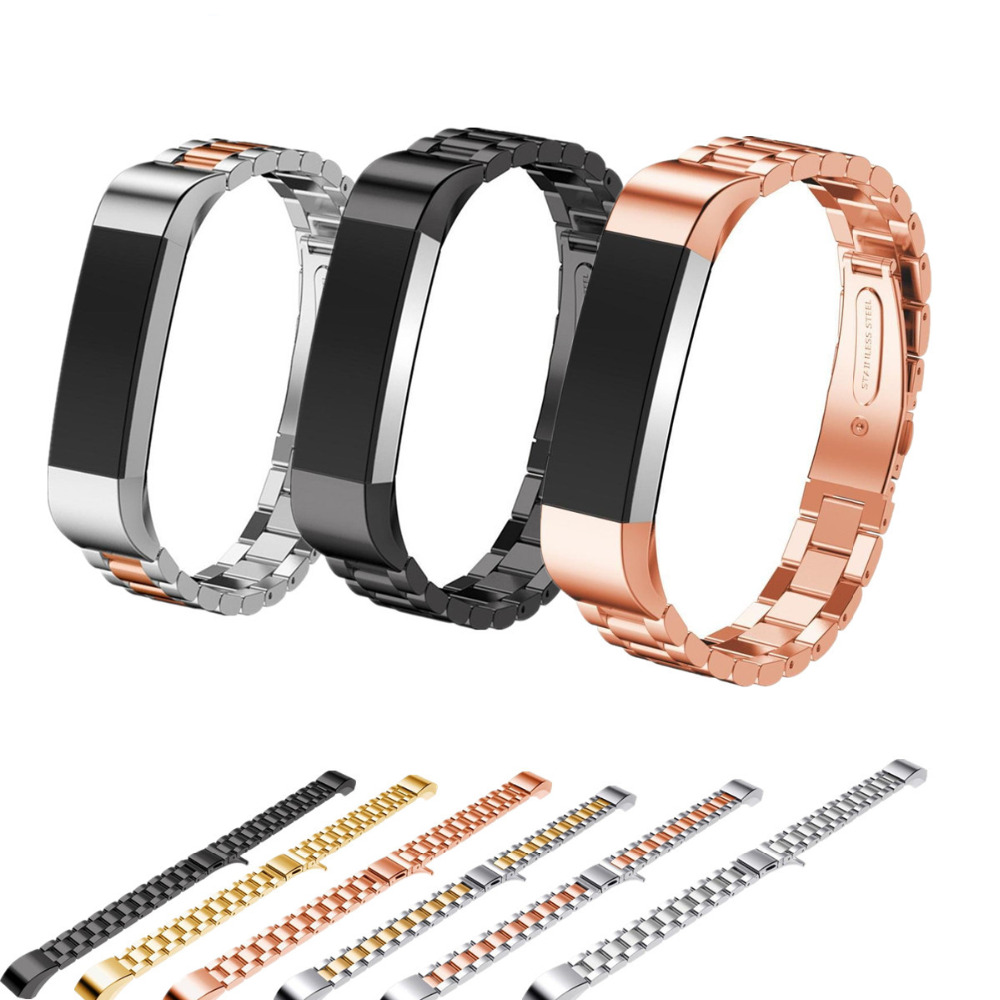 LNOP strap For Fitbit Alta HR Replacement Band for fitbit Alta wristband Stainless Steel Bracelet metal smart Watch Band