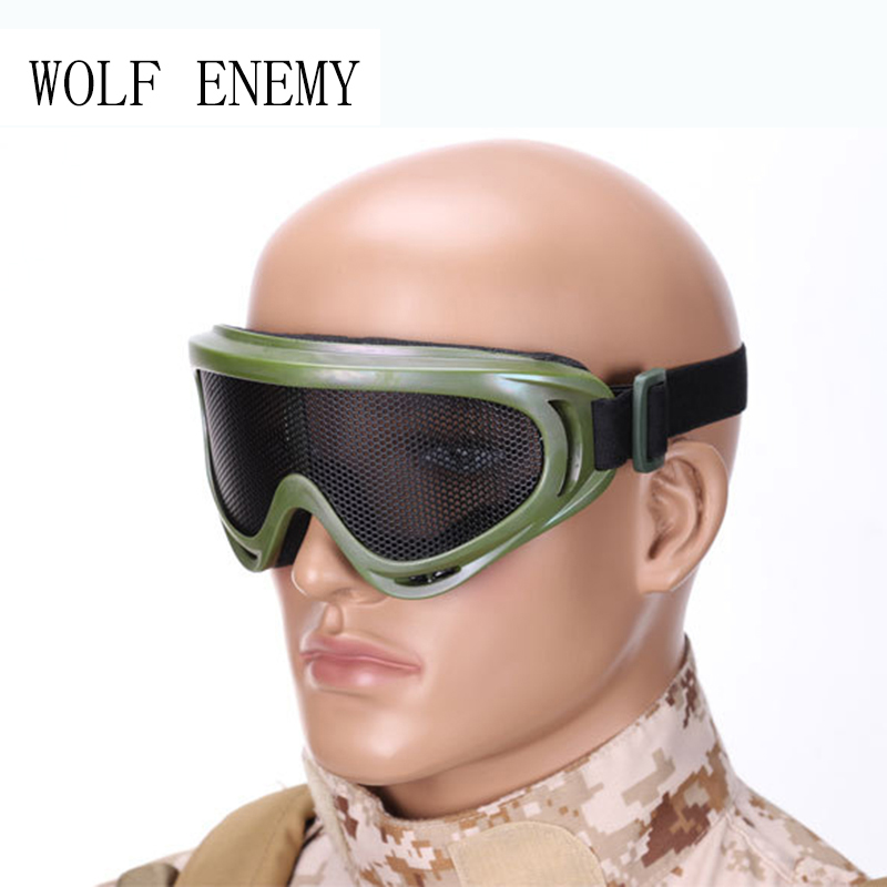 New Army Green Airsoft Tactical Metal Mesh Eyes Protection Goggle Glasses Eyewear