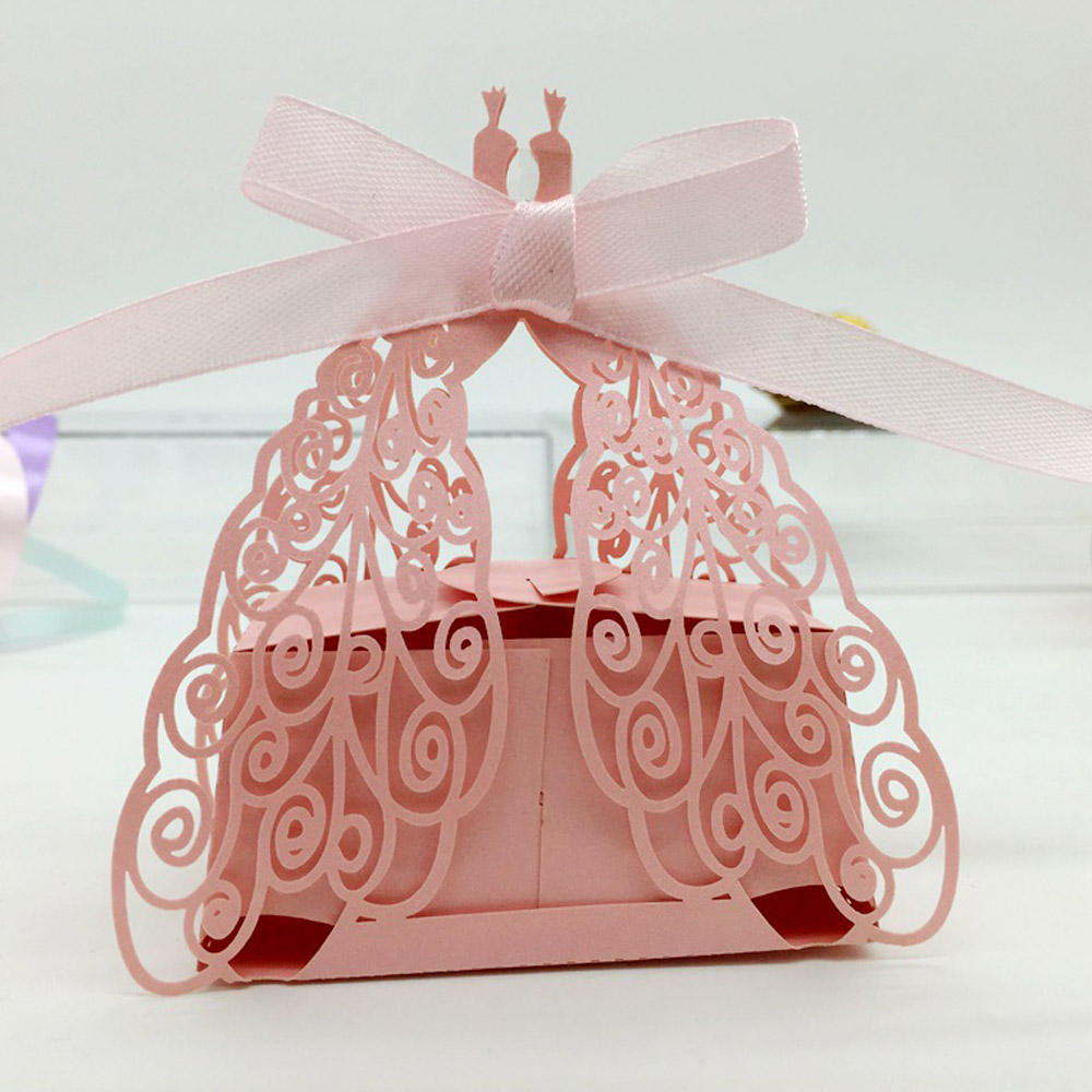 50pcs DIY Romantic Candy Cookie Gift box for Wedding Hollow Carriage ...