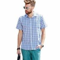 2018 sommer Klassische Plaid shirt für männer baumwolle langarm slim fit kausalen männer shirts Große größe büro business-hemd männer