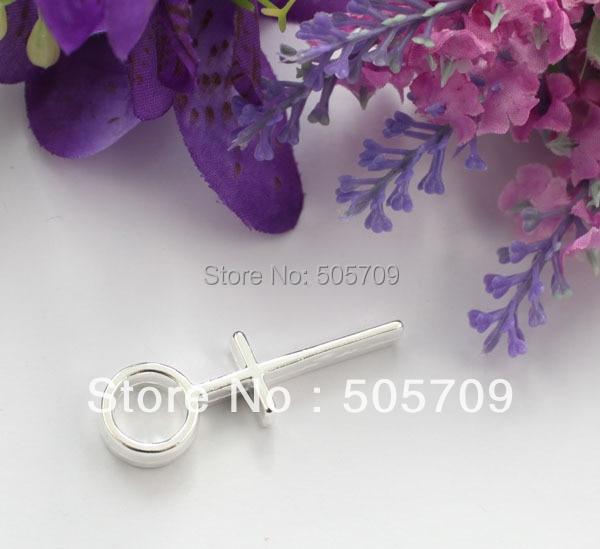 20 шт. стерлингового серебра Цвет пластины женский символ металл очарование Подвески a9275ssp
