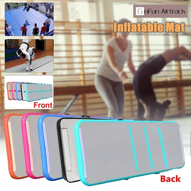 Gofun AirTrack 100x300x10cm Air Mats Sport Exercise Pad Inflatable Tumbling Track Gymnastics Training Pad Double-Sided Pattern