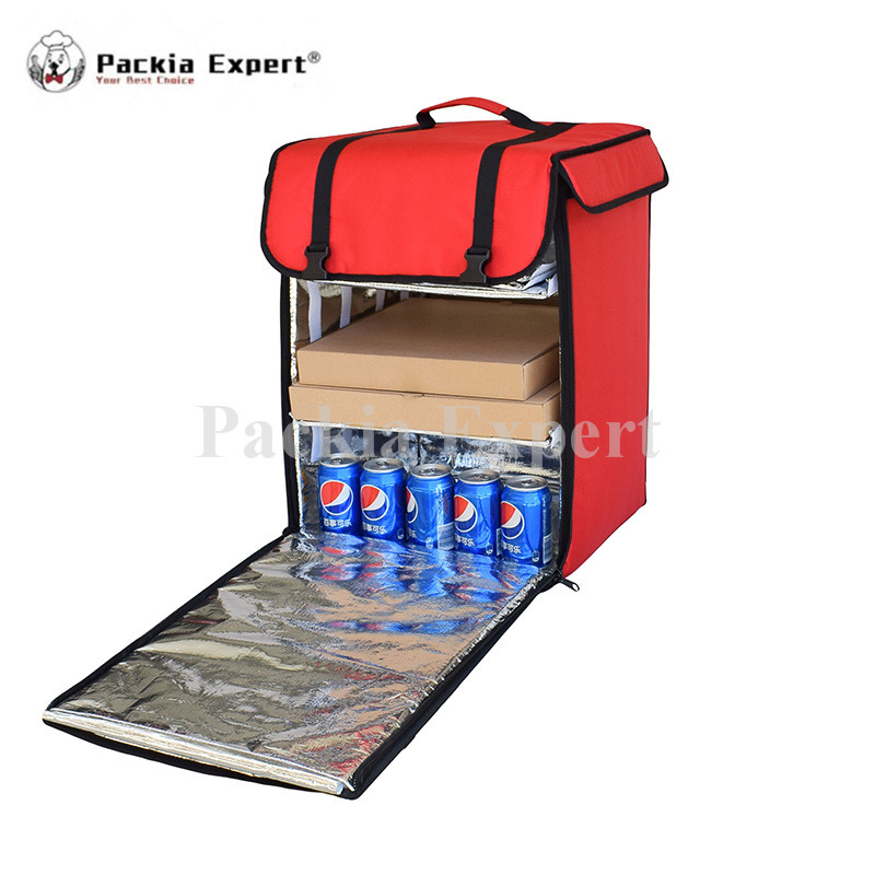 39*39*56cm Pizza Delivery Box, Big Pizza Delivery Bag, Catering Carrier, Backpack 2-Way Zipper Closure PHSB-393956