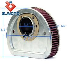 High Flow Motorcycle Air Filter Custom For Harley Fat Boy Breakout Softail Deluxe Night Train Dyna Air Filter Filtro de aire