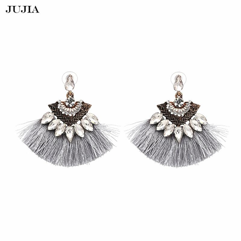 JUJIA Vintage kap Tassel Naušnice Modni brend Boho Maxi luksuzni viseći resice za žene Vjenčanje Nakit  t