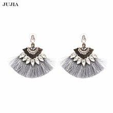 JUJIA Vintage drop Tassel Earrings Fashion brand Boho Maxi luxury Dangle Fringe Earrings for Women Wedding Jewelry
