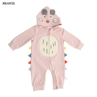 Milancel 2017 Baby Clothes Animal Style Baby Girls Romper Newborn Baby Boys Clothes Hooded Boys Jumpsuits