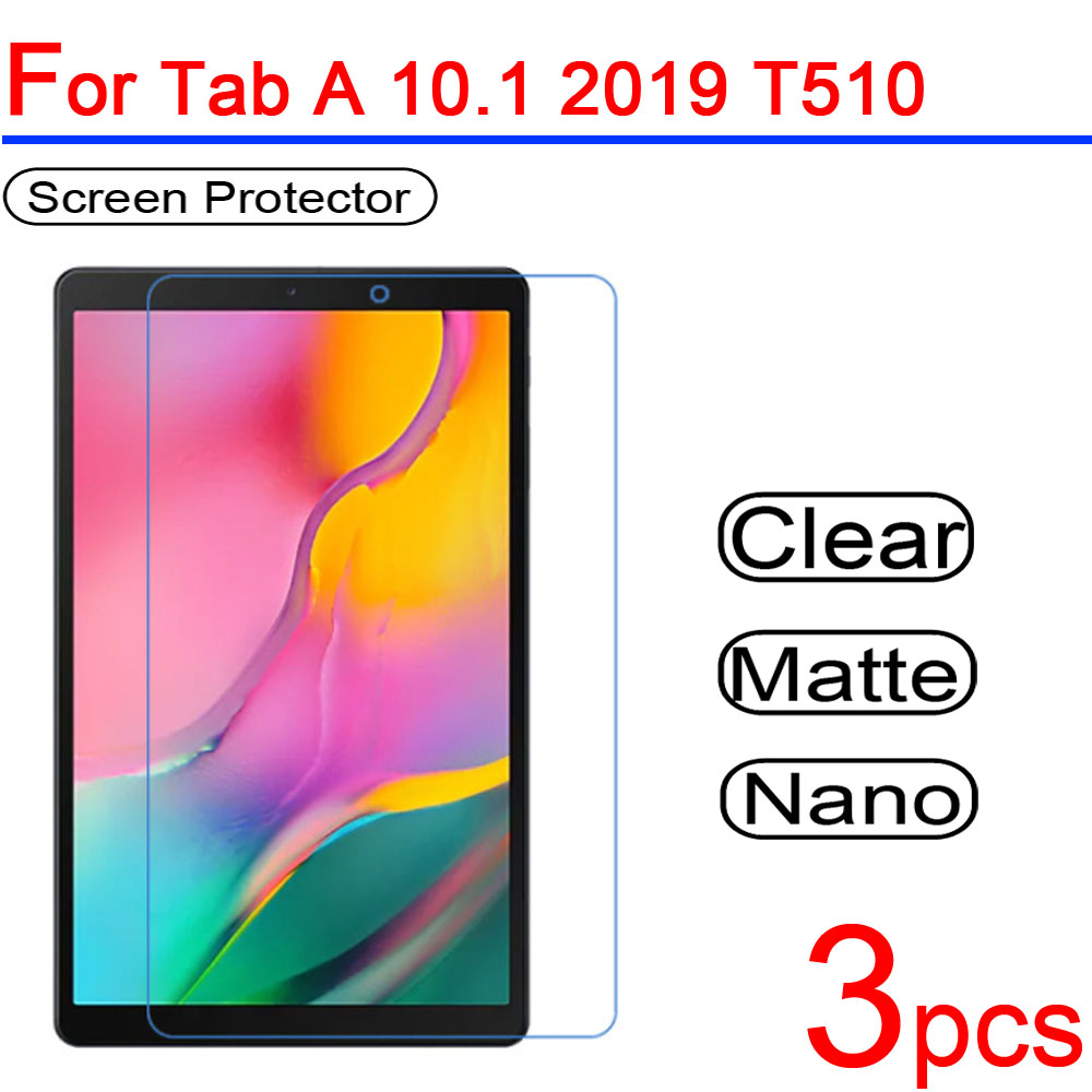 3pcs Ultra Clear Soft LCD Screen Protectors Guard Cover For Samsung Galaxy Tab A 10.1 T510 P580 With S Pen 2019 Protective Film