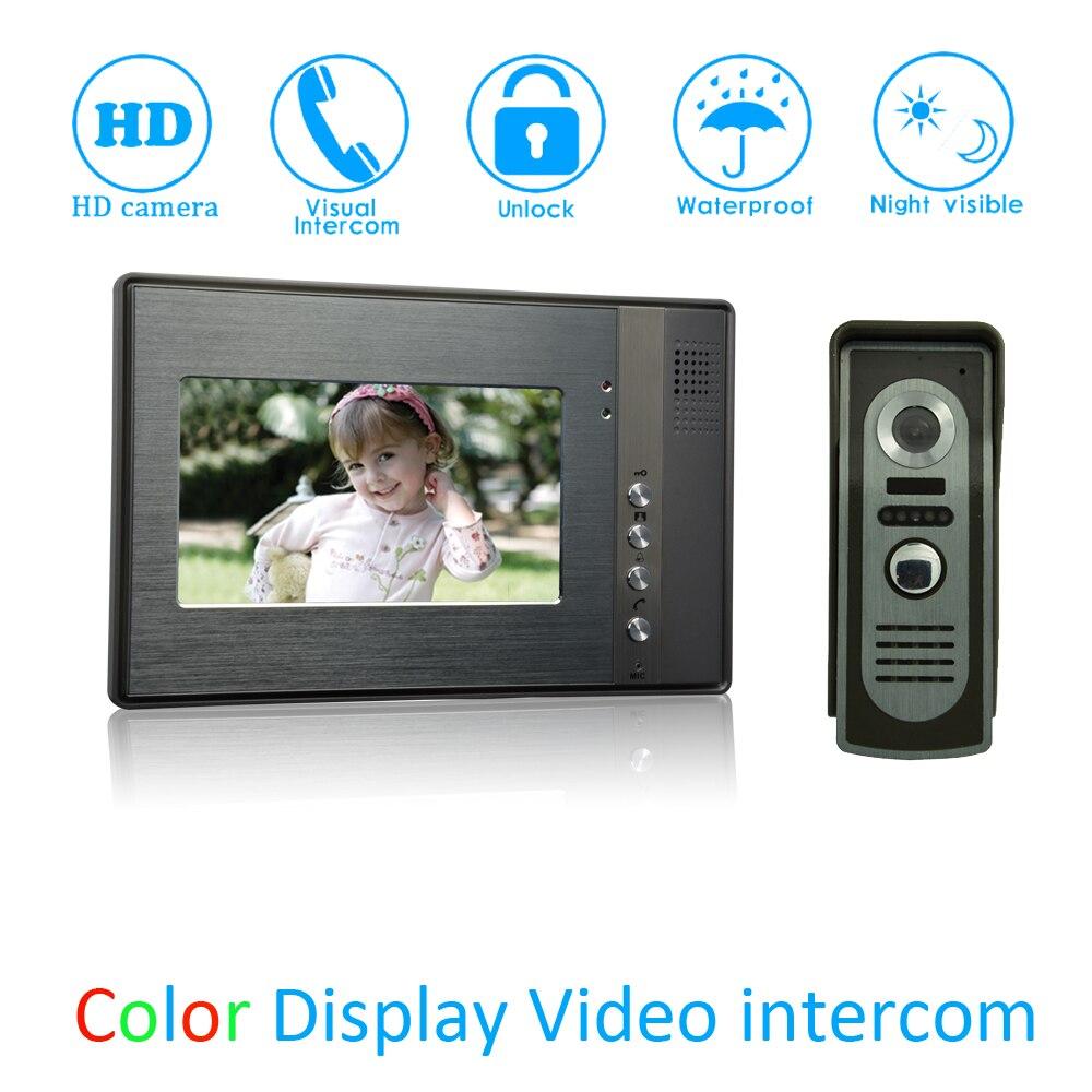 (1 Set) Smart Home Door Access Control Intercom System HD Camera 7