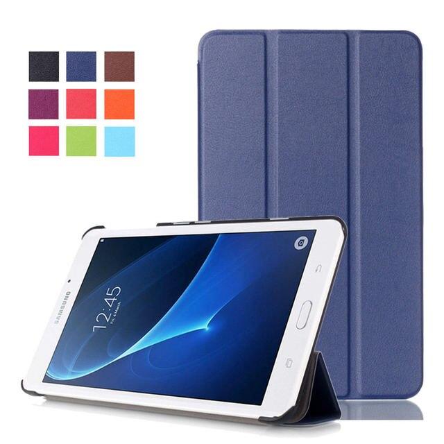 3bc736fb9b9 Para Samsung A6 7,0 soporte magnético Pu Funda de cuero para Samsung Galaxy  Tab