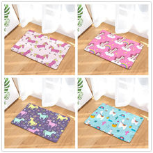 Kartun Gaya Unicorn-Cetak Karpet Anti-Slip Tikar Outdoor Rugs-Pintu Depan Tikar 40X60or50x80cm(China)