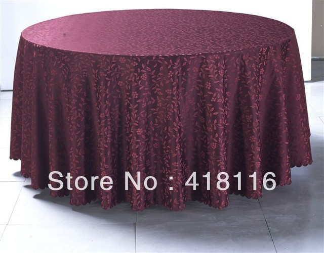 "free shipping Polyester jacquard table cloths 120"" round table cloth factory for events"