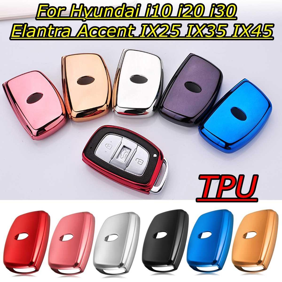 Tpu Car Key Cover For Hyundai I10 I20 I30 Elantra Accent IX25 IX35 IX45 Remote Protection Holder Styling Accessories Case  Shell