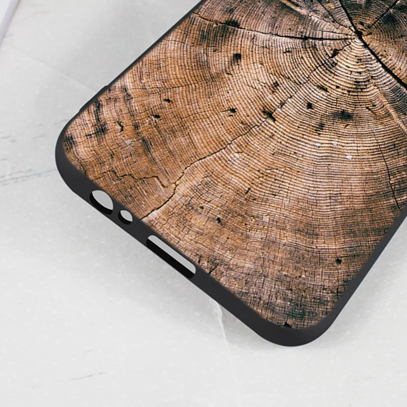 For Samsung Galaxy j8 j7 j6 j5 j4 j3 Plus Prime 2018 2017 2016 Black Silicone Phone Case Wooden Pattern wood textures Style in Fitted Cases from Cellphones Telecommunications
