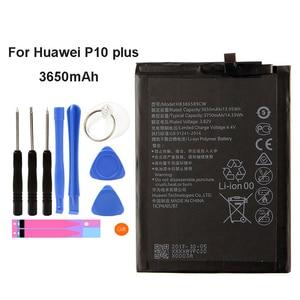 Оригинальный аккумулятор HB386589CW 3650 мАч для Huawei P10 Plus Batterie Bateria Аккумулятор мобильный телефон + инструменты 5,0