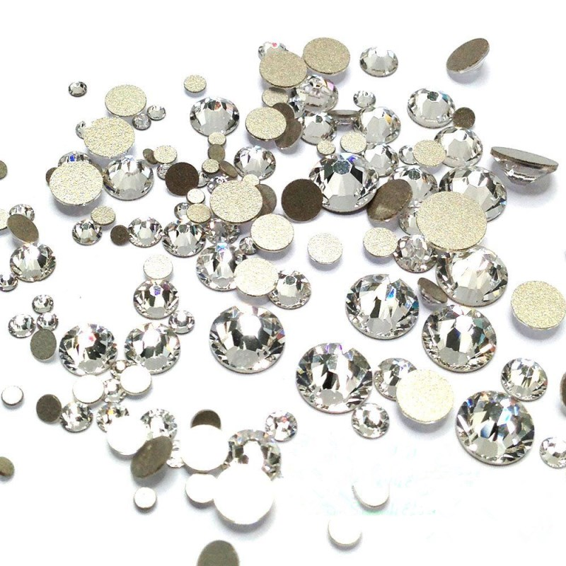 5000PCS Mix Sizes Crystal Clear Non Hotfix Flatback Nail Rhinestones Supplies Nails Accessories Nail Art Decoration Strass Stone mix crystals of opal rhinestones for nail rhinestones on nails opal glass gems 3d nail art strass ongle decoration mjz1027