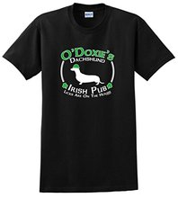 New Man Design T Shirt Print Men's 100% Cotton Crew Neck Short-Sleeve St Patricks Day Dog Dachshund Doxie Irish Pub Sign Tee