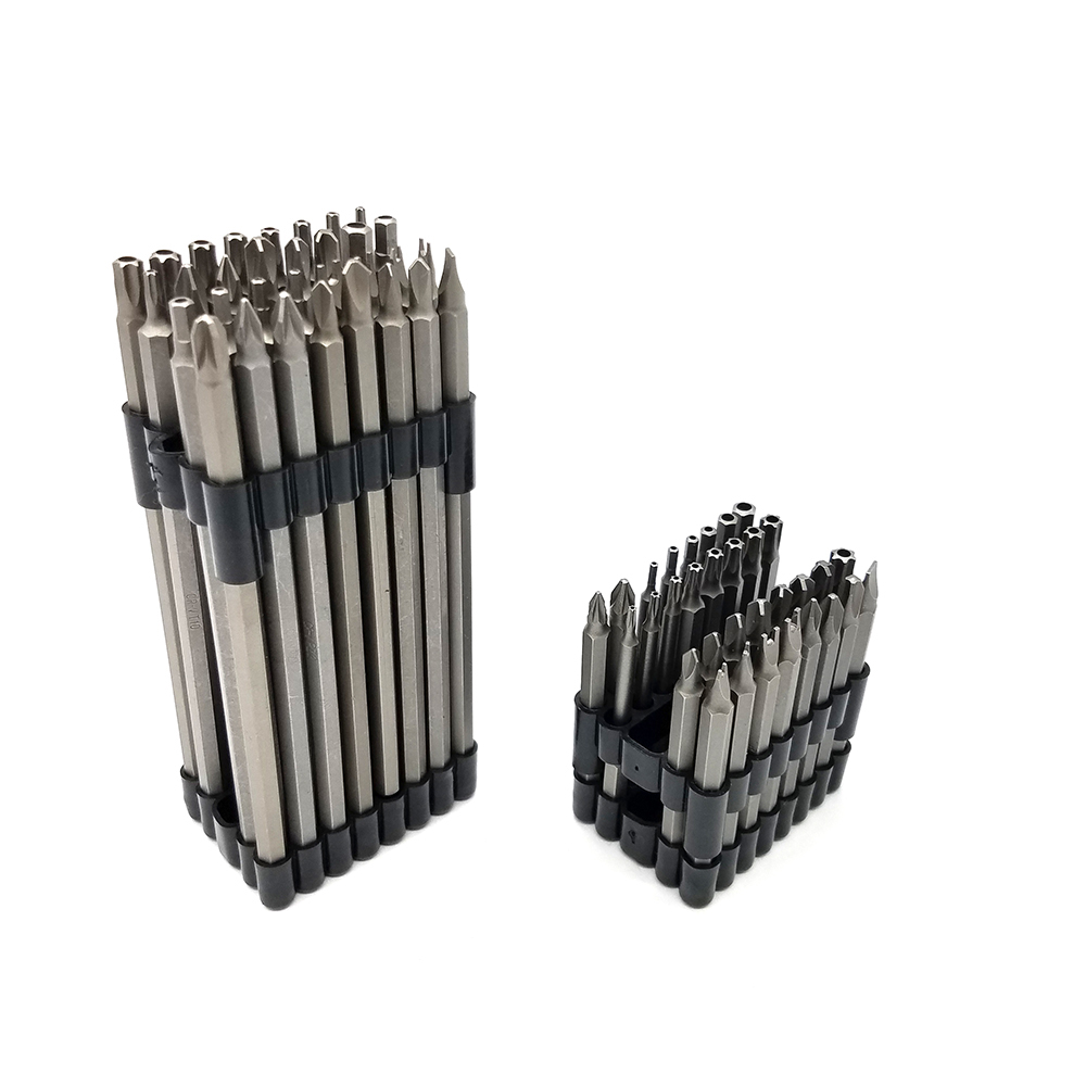 32PC 6 Inch(150mm) 3 Inch(75mm) Extra Long Security Bit Set CRV Hex Phillips Pozidriv Slotted Star Spanner Torq Tri-Wing Bit