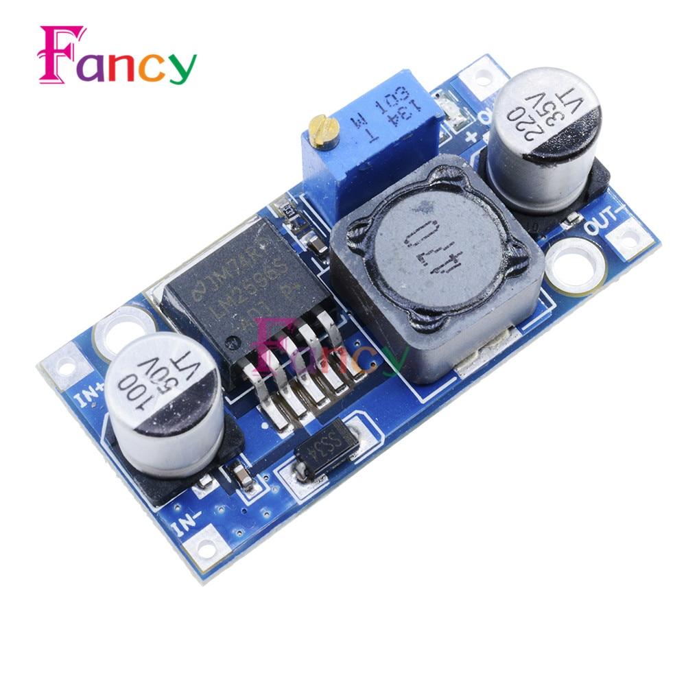 DC-DC Step Down Module LM2596S LM2596 3.2V-40V To 1.25V-35V Adjustable Power Supply Buck Converter Voltage Regulator Module 1pcs dc dc lm2596 adj lm2596s dc dc adjustable buck module