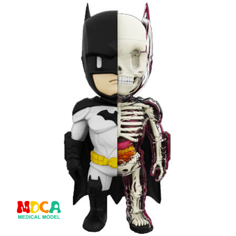 Batman 4D XXRAY master Mighty Jaxx Jason Freeny anatomy Cartoon ornament pink unicorn 4d xxray master mighty jaxx jason freeny anatomy cartoon ornament