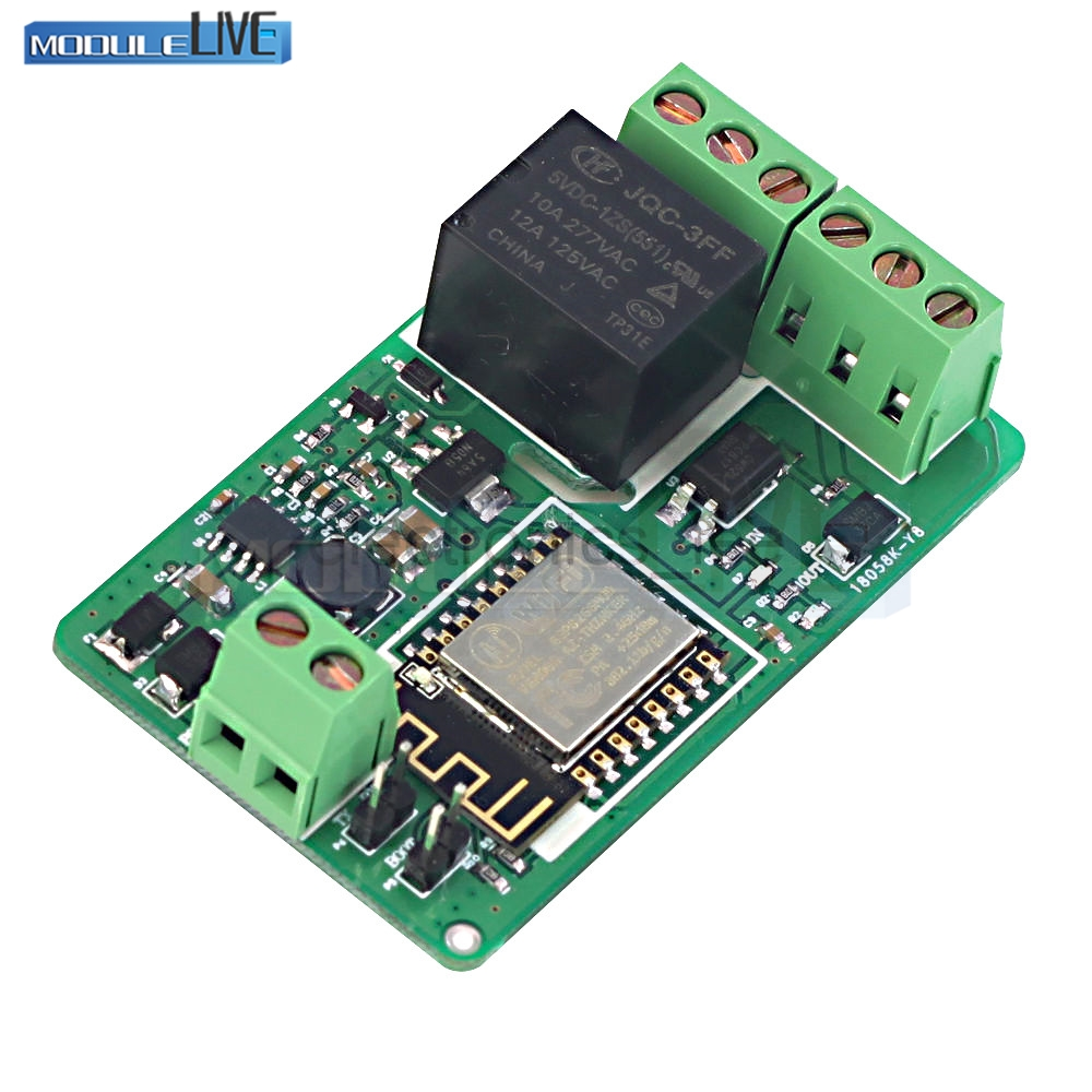 ESP8266 220V 10A Network Relay WIFI Module DC 7-30V HTTP Control TCP Client TVS Protection 4-layers Board PCB Pin Anti-climb