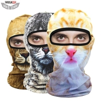 WOSAWE Motorcycles Balaclava MOTO Helmet Caps Face Mask Outdoor Sports Windproof Head animal pattern motocross face mask