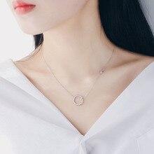 New Fashion Women Necklace Charm Circle Rhinestone Pendant Necklaces Female Legend of the Blue Sea Zircon Jewelry Gift WD260