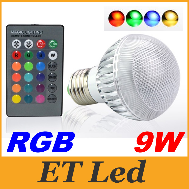 Christmas/xmas Lighting 9w E27 Led Rgb Light Lamp Multiple Colour E26 E14 B22 Gu10 Led Lights Ac 85-265v Led Lighting 24keys Remote Control Relieving Rheumatism And Cold Led Spotlights