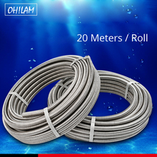 20Meters 304 Stainless Steel Pipe 3/8,1/2,3/4, 1,1.2,1.5 DIY Tube Plumbing Hose Retractable Water Hose Corrugated Pipe viborg top quality 60cm sus304 stainless steel flexible braided water supply hose for water heater connector pipe tube