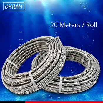 20Meters 304 Stainless Steel Pipe 3/8,1/2,3/4, 1,1.2,1.5 DIY Tube Plumbing Hose Retractable Water Hose Corrugated Pipe