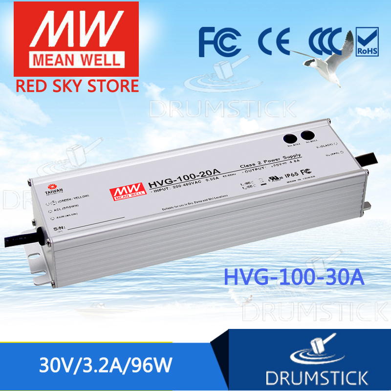 цена на MEAN WELL HVG-100-30A 30V 3.2A meanwell HVG-100 30V 96W Single Output LED Driver Power Supply A type