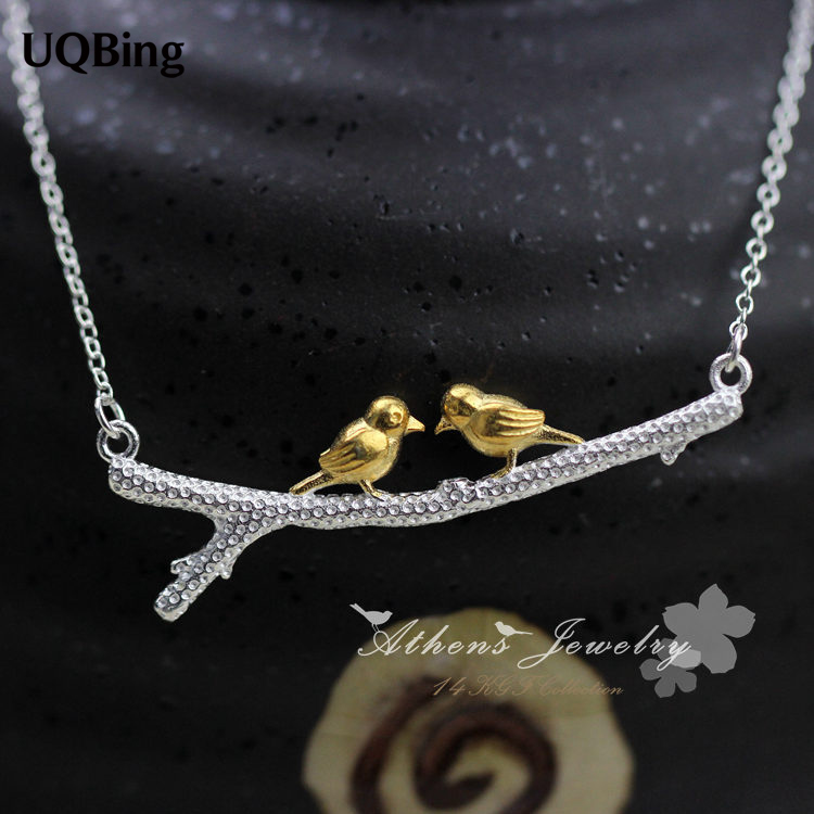 2015 Nuovi collane e pendenti per uccelli in argento sterling 925 Collare in argento sterling puro Collare gioielli Colar de Plata