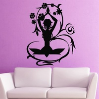 Wall Stickers Vinyl Decal Yoga Poses Meditation Zen Nirvana Health