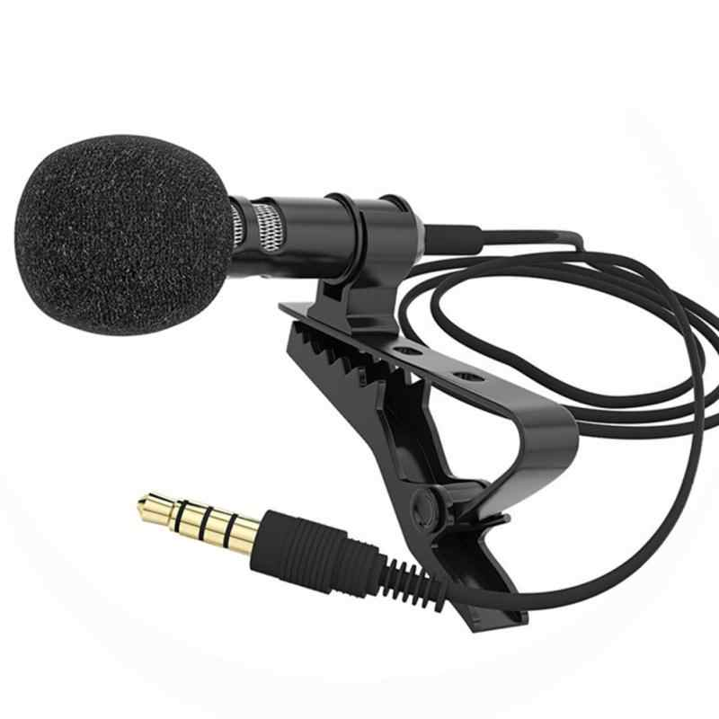 1/2 Pcs/set Mikrofon Clip-On Kerah Mengikat Ponsel Lavalier Mikrofon MIC untuk IOS Android Ponsel laptop Tablet Rekaman