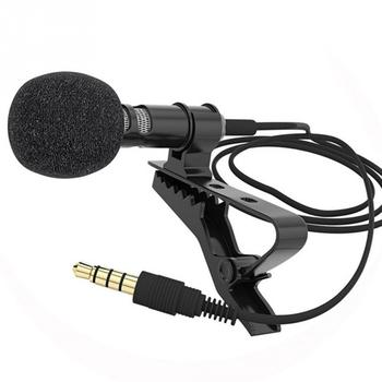 1/2Pcs/set Microphone Clip-on Collar Tie Mobile Phone Lavalier Microphone Mic for ios Android Cell Phone Laptop Tablet Recording 3 5mm wired lavalier microphone mic for ios android cell phone microfono para celular yaka mikrofonu clip on collar phone lapel