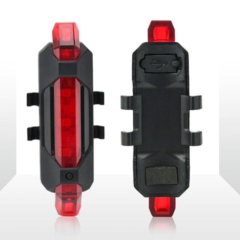 2pcs/set Bicycle Lights <font><b>LED</b></font> <font><b>Fahrradlicht</b></font> USB Fahrradlampe Set Bicycle Headlights + Taillights Bicycle Accessories B2Cshop