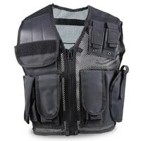Tactical Vest Men Mesh Shooting Multi Pockets Waistcoat Sleeveless Combat Jacket Wargame Armor Hunting Vest CS Military Coat
