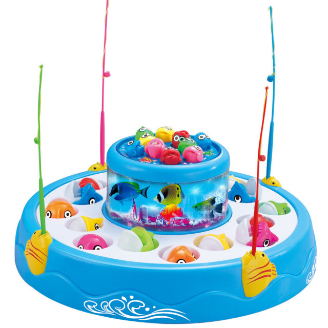 Battery Operated Double Magnetic Fishing Toy With Light And Music Learning & Education For Children Outdoor Fun & Sports GH222
