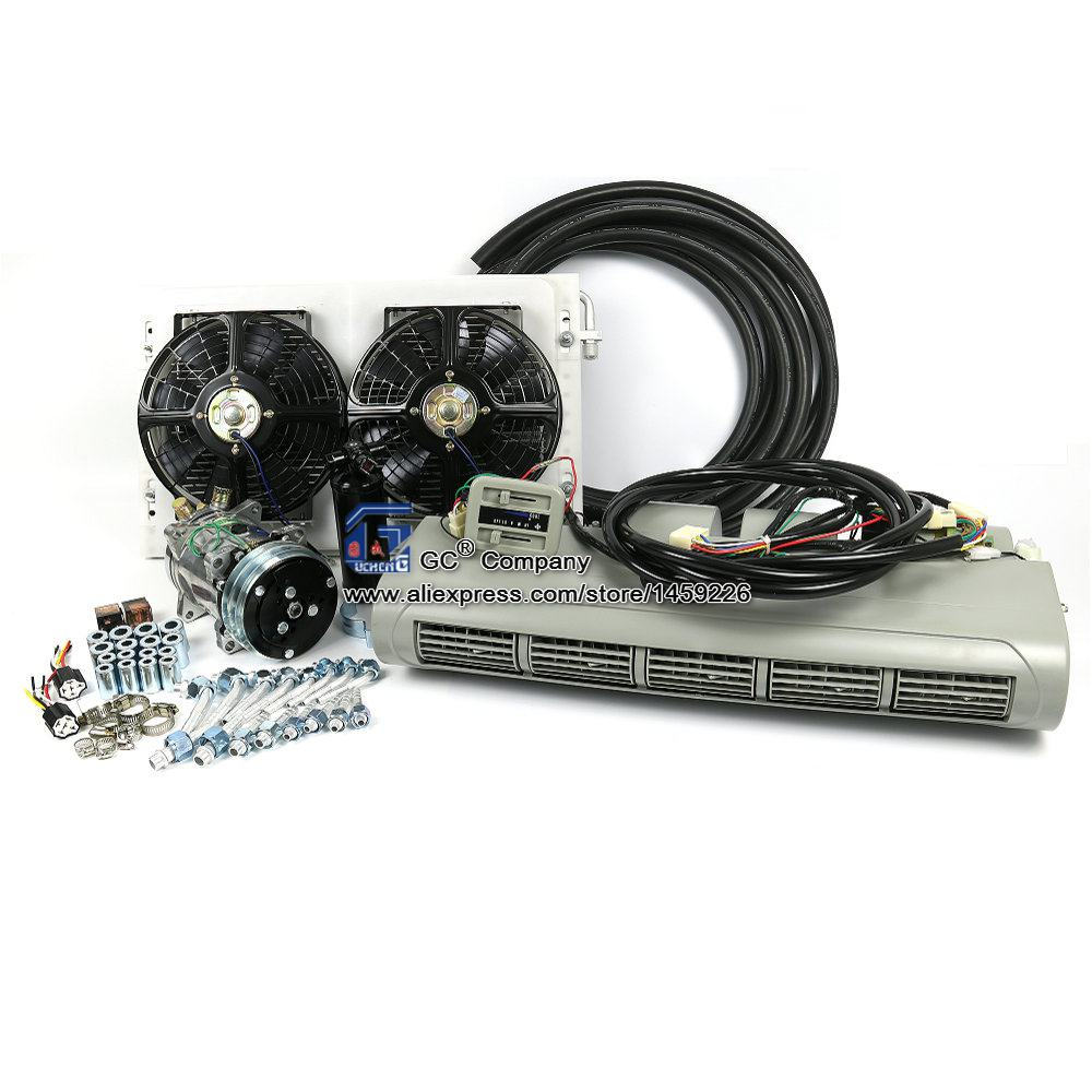 Universal A C Air Conditioning System Evaporator Assembly Kit for Truck Bus Caravan Trailer RV Recreational