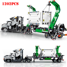 1202 шт. City Engineering Mark контейнер Большой Грузовик автомобилей строительные Конструкторы Совместимость Legoing технический кирпич детей игрушечные лошадки