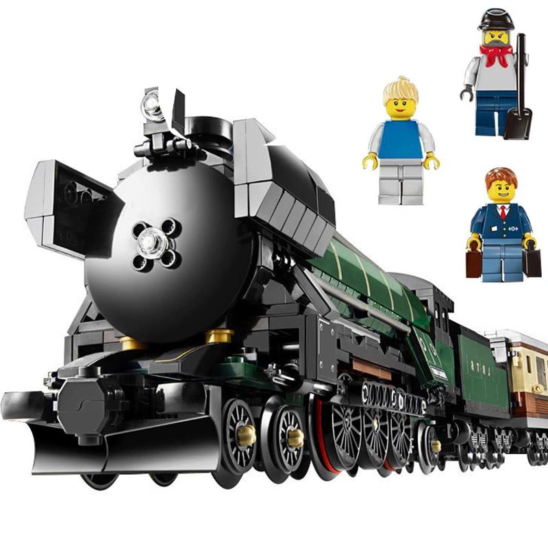 Lepin 21005 1109Pcs Technic Series Emerald Night Train Model LegoINGys 10194 Educational Building Block Bricks Kits Gift Toys